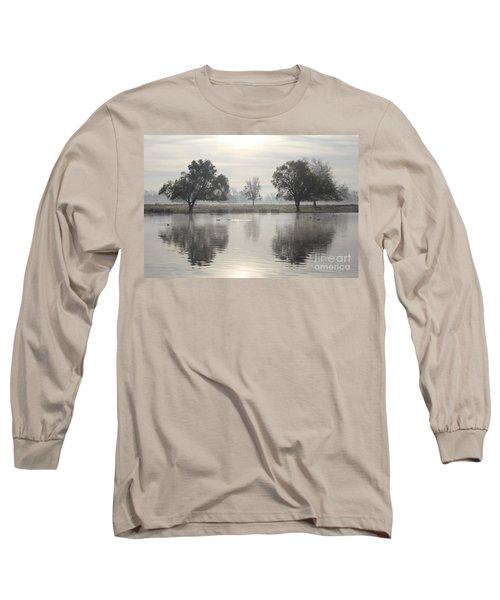 Misty Morning In Bushy Park London 2 Long Sleeve T-Shirt
