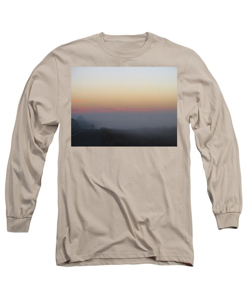 Misty Morning Road Long Sleeve T-Shirt