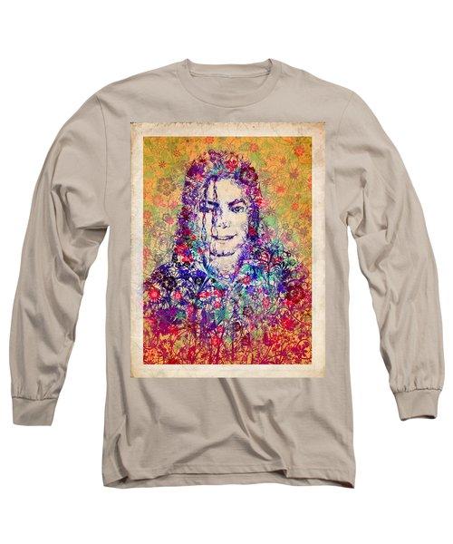 Mj Floral Version 3 Long Sleeve T-Shirt