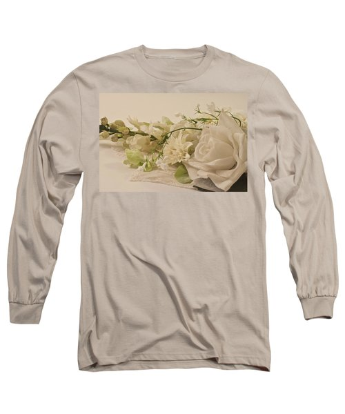 Long Sleeve T-Shirt featuring the photograph Many White Flowers  by Sandra Foster