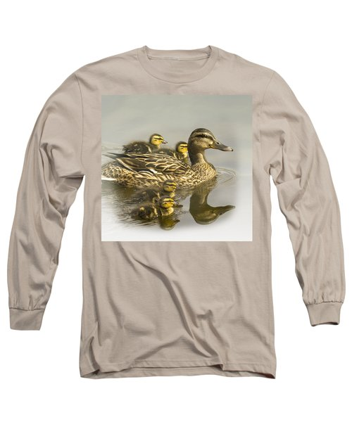 Momma And Babies Long Sleeve T-Shirt by Sonya Lang