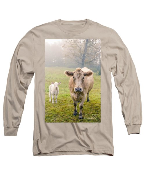 Momma And Baby Cow Long Sleeve T-Shirt