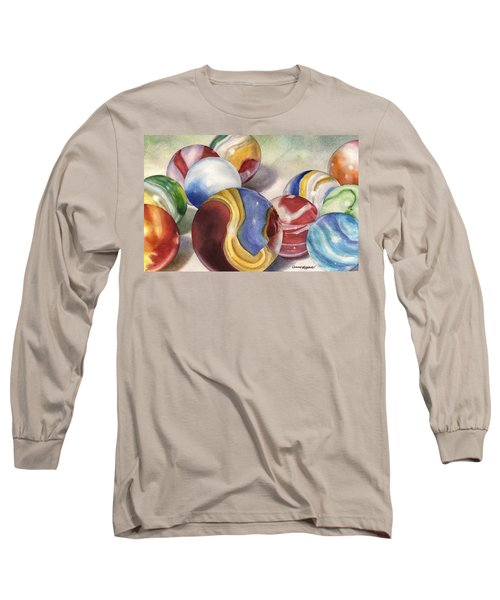 Mom's Marble Shooter Long Sleeve T-Shirt