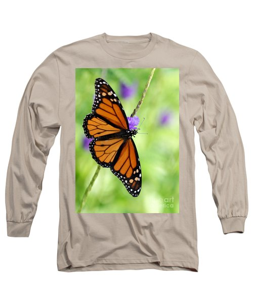 Monarch Butterfly In Spring Long Sleeve T-Shirt