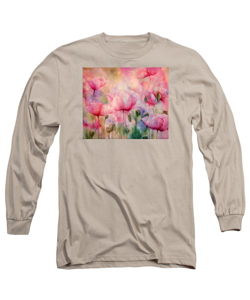 Monet's Poppies Vintage Warmth Long Sleeve T-Shirt