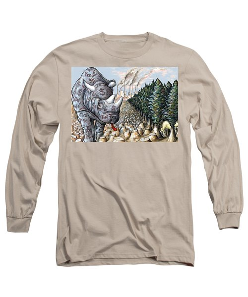 Donald Trump In Action - Political Cartoon Long Sleeve T-Shirt by Art America Gallery Peter Potter