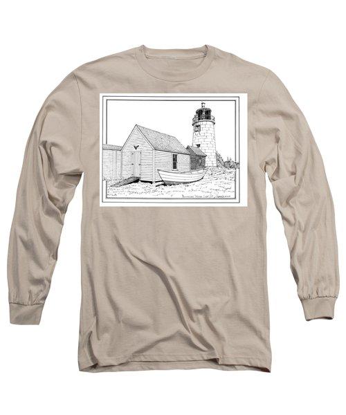 Monhegan Island Light Long Sleeve T-Shirt by Ira Shander