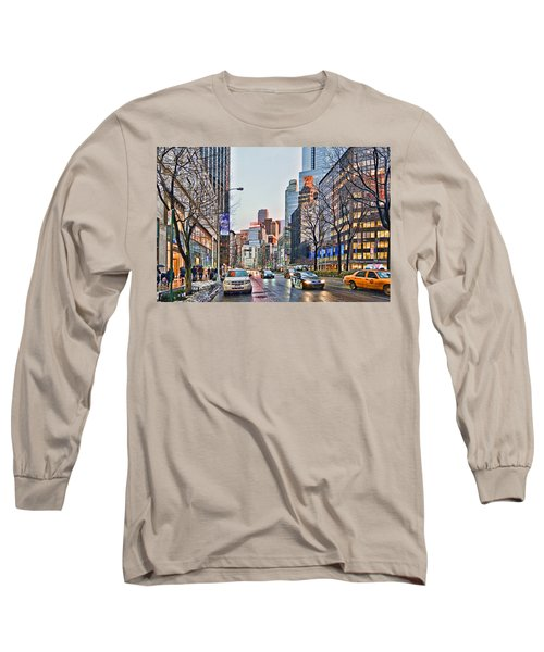 Moody Afternoon In New York City Long Sleeve T-Shirt