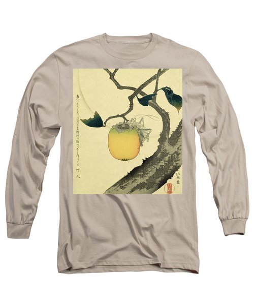 Moon Persimmon And Grasshopper Long Sleeve T-Shirt