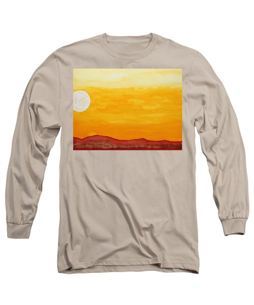 Moonshine Original Painting Sold Long Sleeve T-Shirt by Sol Luckman
