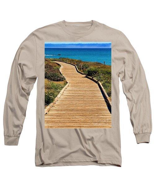 Moonstone Beach Park By Diana Sainz Long Sleeve T-Shirt