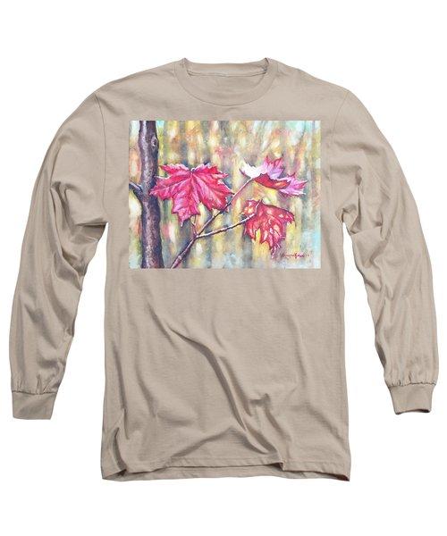 Morning After Autumn Rain Long Sleeve T-Shirt by Shana Rowe Jackson