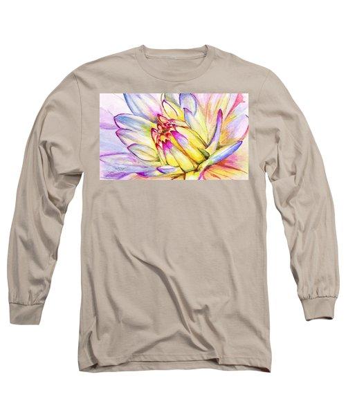 Morning Flower Long Sleeve T-Shirt by Janet Garcia