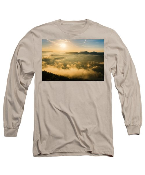Morning Fog In The Saxon Switzerland Long Sleeve T-Shirt