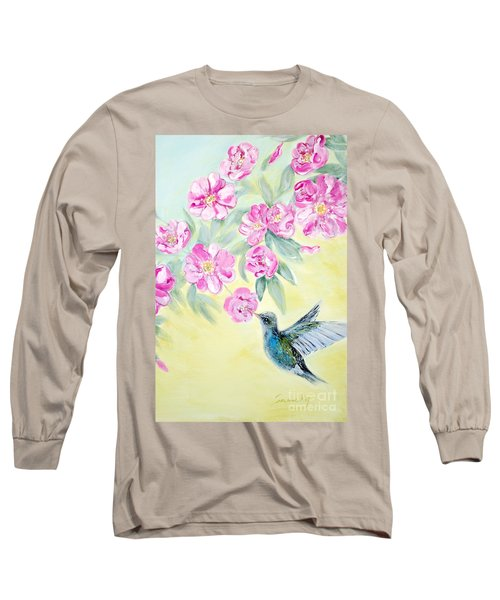 Morning In My Garden. Card Long Sleeve T-Shirt