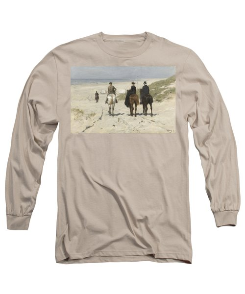 Morning Ride Along The Beach Long Sleeve T-Shirt