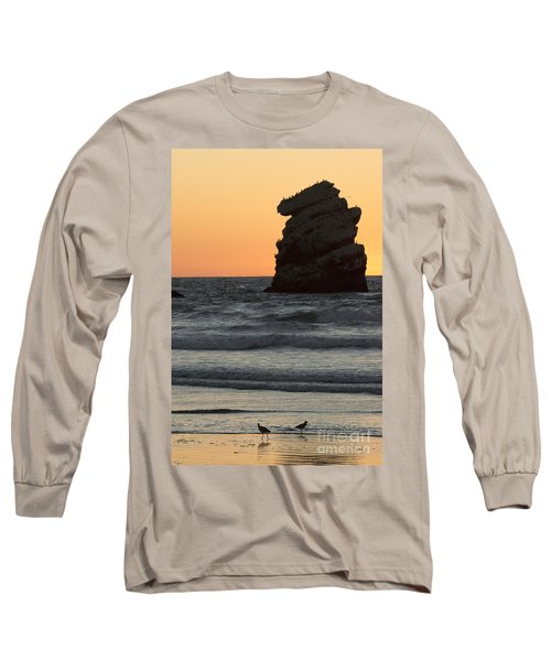 Morro Beach Sunset Long Sleeve T-Shirt