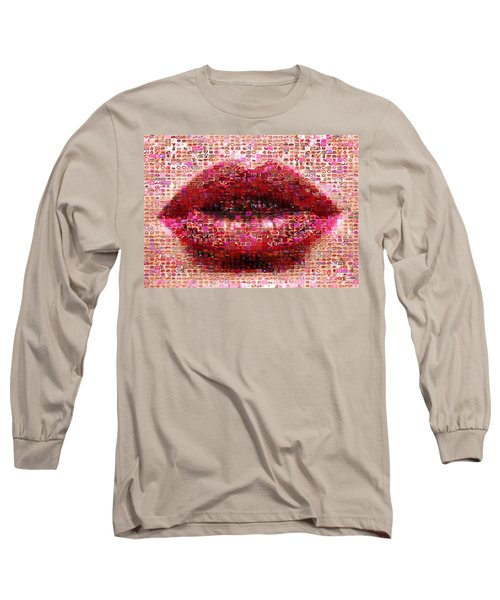 Mosaic Lips Long Sleeve T-Shirt