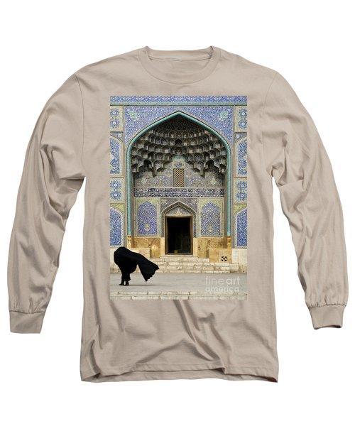 Mosque Door In Isfahan Esfahan Iran Long Sleeve T-Shirt