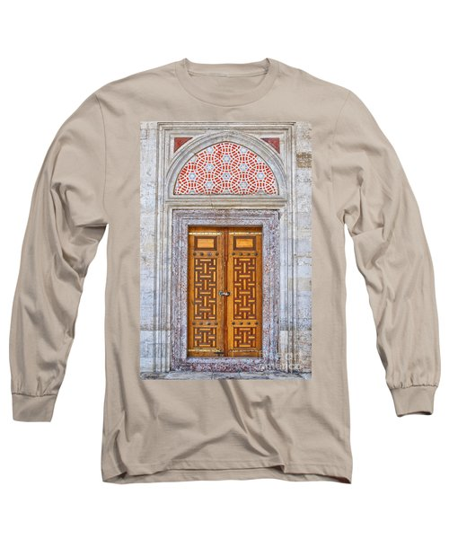 Mosque Doors 04 Long Sleeve T-Shirt by Antony McAulay