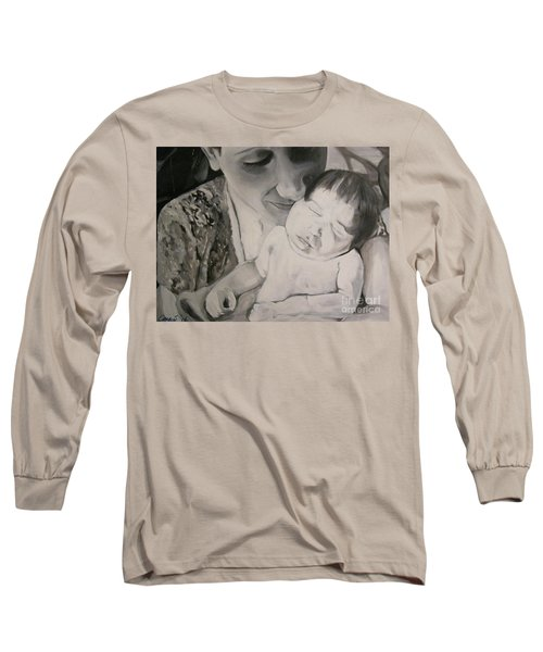 Mother And Child Long Sleeve T-Shirt by Carrie Maurer