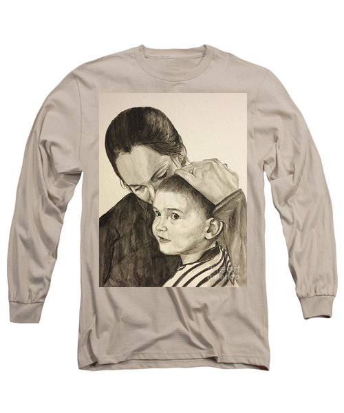 Long Sleeve T-Shirt featuring the painting Mother's Love by Tamir Barkan