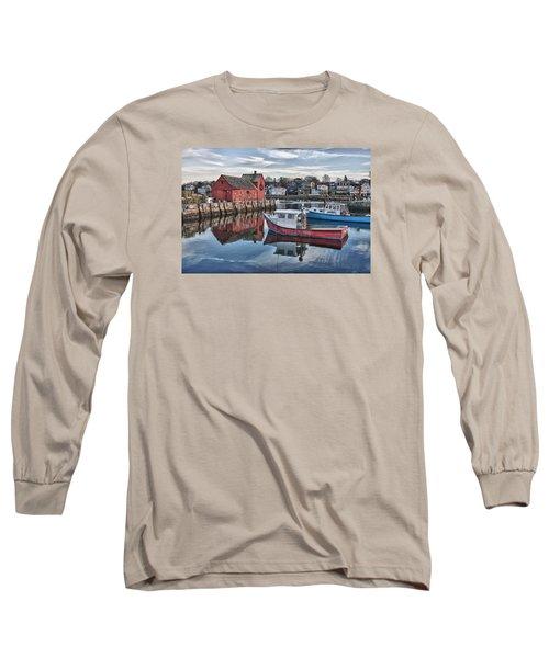 Motif 1 Sky Reflections Long Sleeve T-Shirt by Jeff Folger