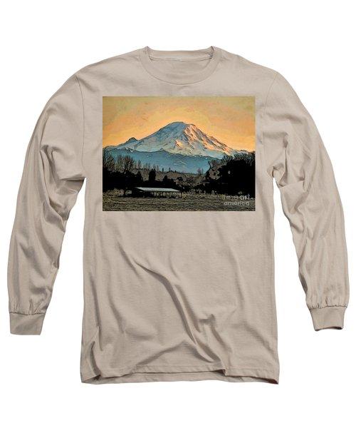 Mount Rainier Long Sleeve T-Shirt