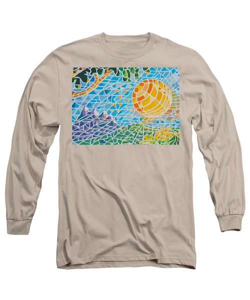 Long Sleeve T-Shirt featuring the painting Mountain Of God by Anthony Mwangi