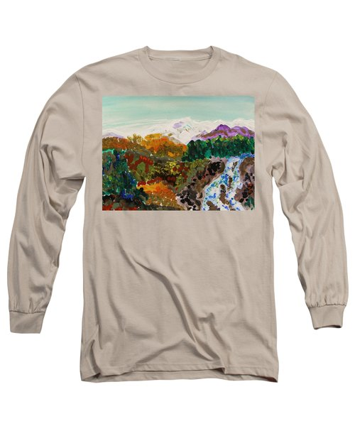 Mountain Water Long Sleeve T-Shirt by Mary Carol Williams