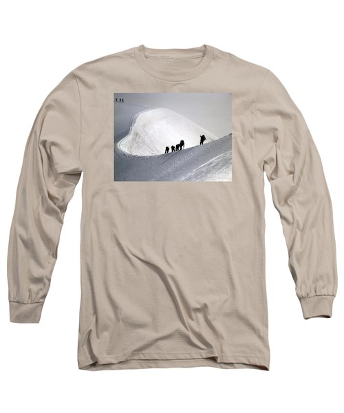 Mountaineers To Conquer Mont Blanc Long Sleeve T-Shirt
