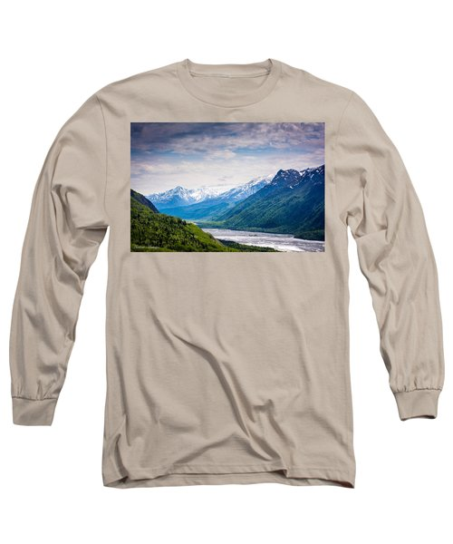 Mountains Along Seward Highway Long Sleeve T-Shirt