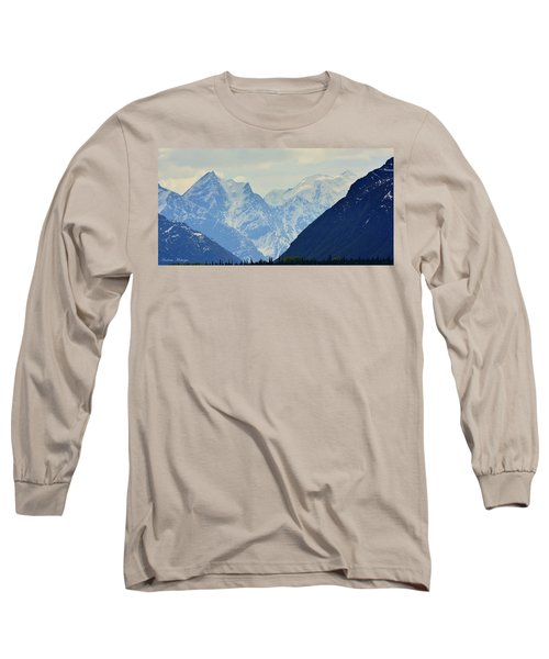 Mountains Near Matanuska Glacier Long Sleeve T-Shirt