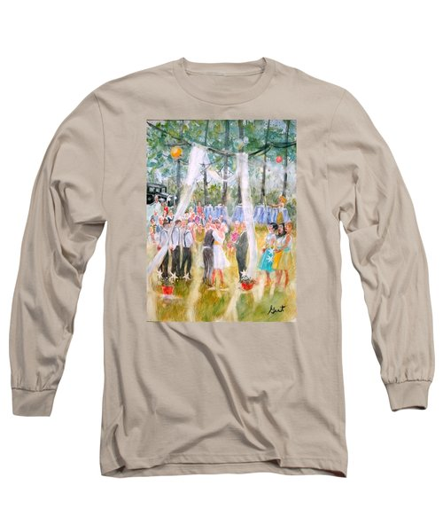 Mr. And Mrs. Matt Parker Long Sleeve T-Shirt by Gertrude Palmer