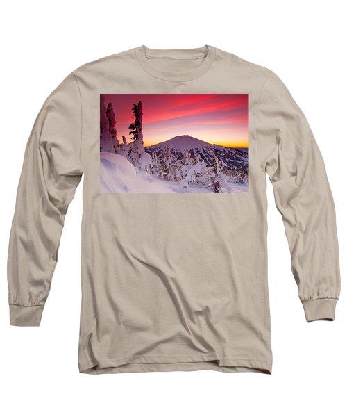 Mt. Bachelor Winter Twilight Long Sleeve T-Shirt