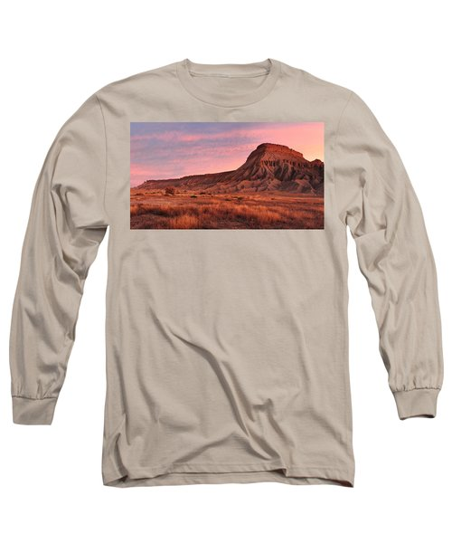 Long Sleeve T-Shirt featuring the photograph Mt Garfield Sunrise by Ronda Kimbrow