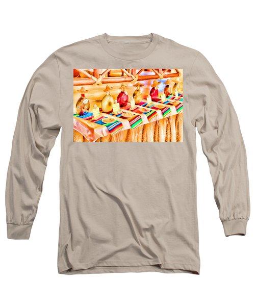 Mucho Tequila Long Sleeve T-Shirt by Teresa Zieba