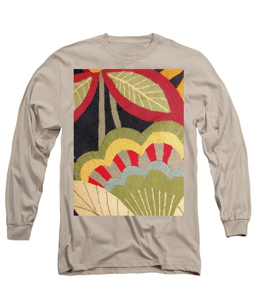 Long Sleeve T-Shirt featuring the photograph Multi-colored Flowers Leaves Textile by Janette Boyd