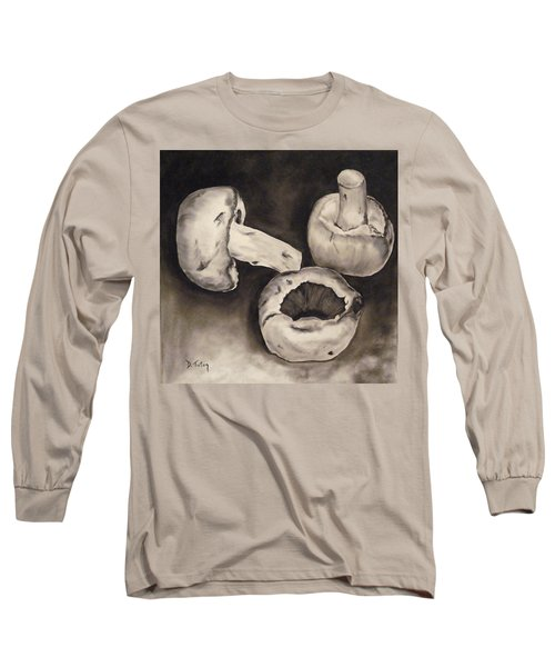 Long Sleeve T-Shirt featuring the painting Mushrooms by Donna Tuten