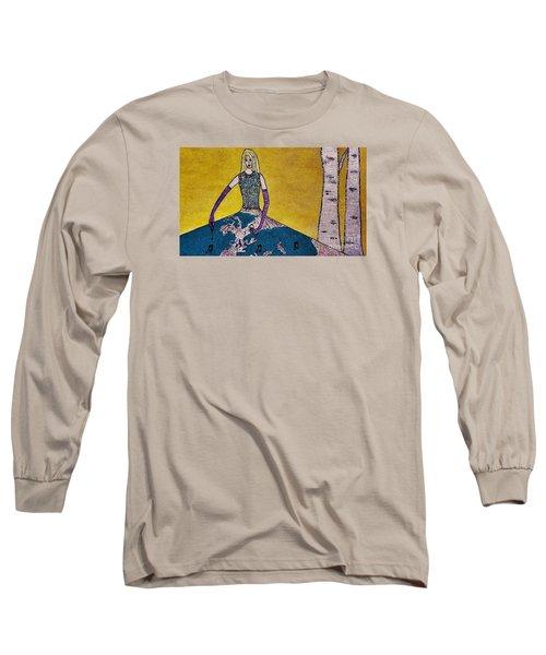 Music World By Jasna Gopic Long Sleeve T-Shirt by Jasna Gopic
