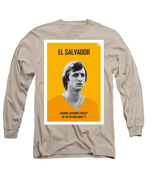 My Cruijff Soccer Legend Poster Long Sleeve T-Shirt by Chungkong Art