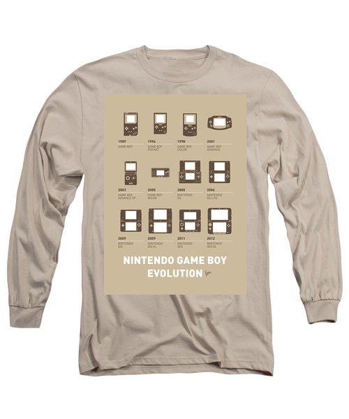 My Evolution Nintendo Game Boy Minimal Poster Long Sleeve T-Shirt
