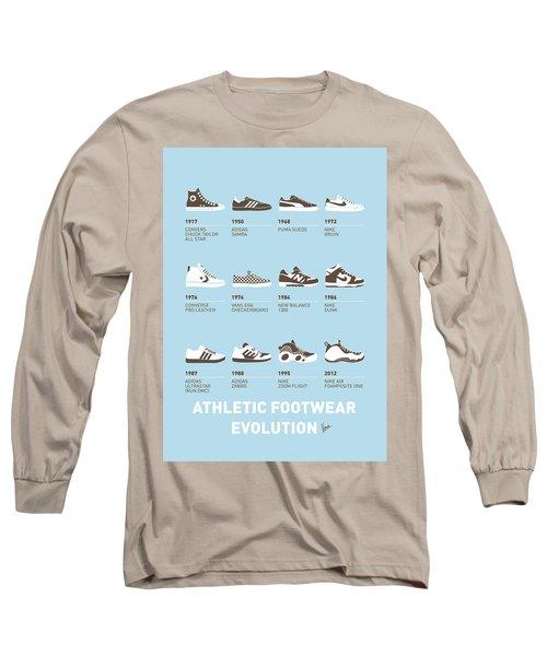 My Evolution Sneaker Minimal Poster Long Sleeve T-Shirt