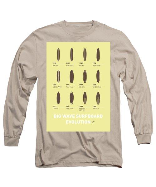 My Evolution Surfboards Minimal Poster Long Sleeve T-Shirt