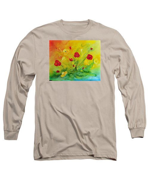 Long Sleeve T-Shirt featuring the painting My Favourite by Teresa Wegrzyn
