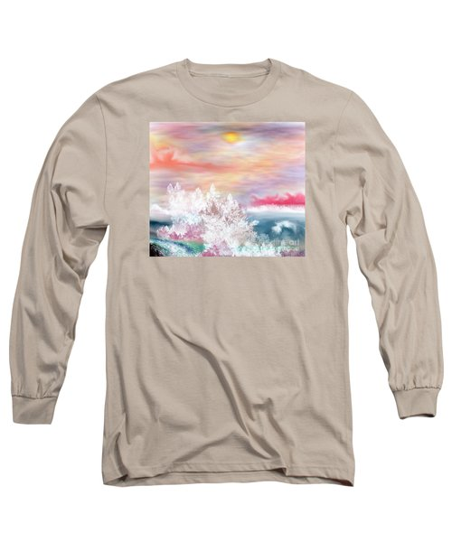 Long Sleeve T-Shirt featuring the painting My Heaven by Lori  Lovetere