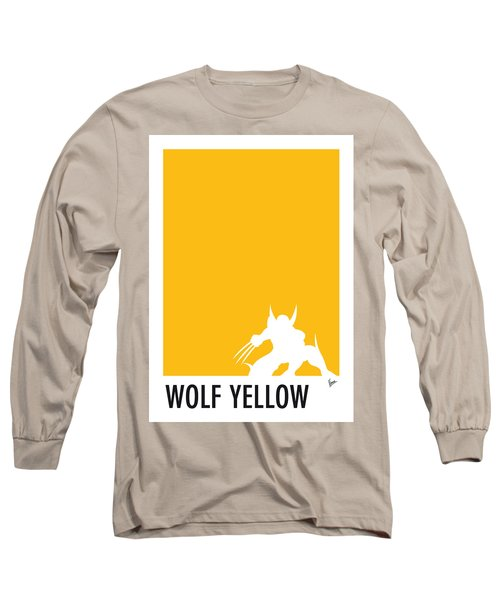 My Superhero 05 Wolf Yellow Minimal Poster Long Sleeve T-Shirt by Chungkong Art