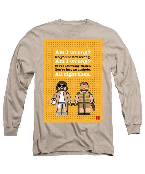 My The Big Lebowski Lego Dialogue Poster Long Sleeve T-Shirt