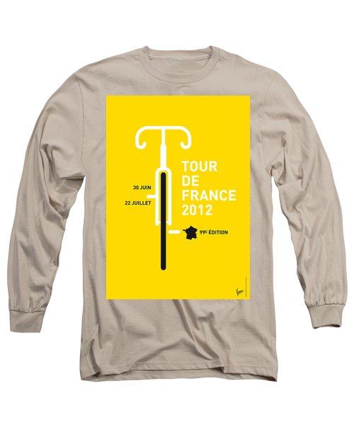My Tour De France 2012 Minimal Poster Long Sleeve T-Shirt by Chungkong Art