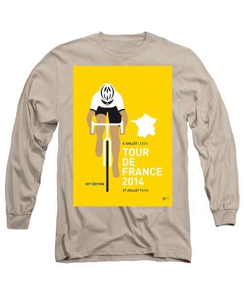 My Tour De France Minimal Poster 2014 Long Sleeve T-Shirt